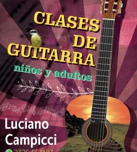 Volante para clases de guitarra