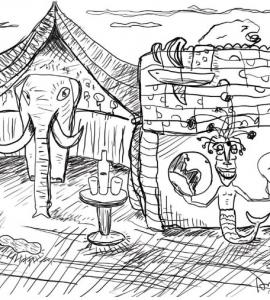 """""""El equilibrio"""" ilustración"""